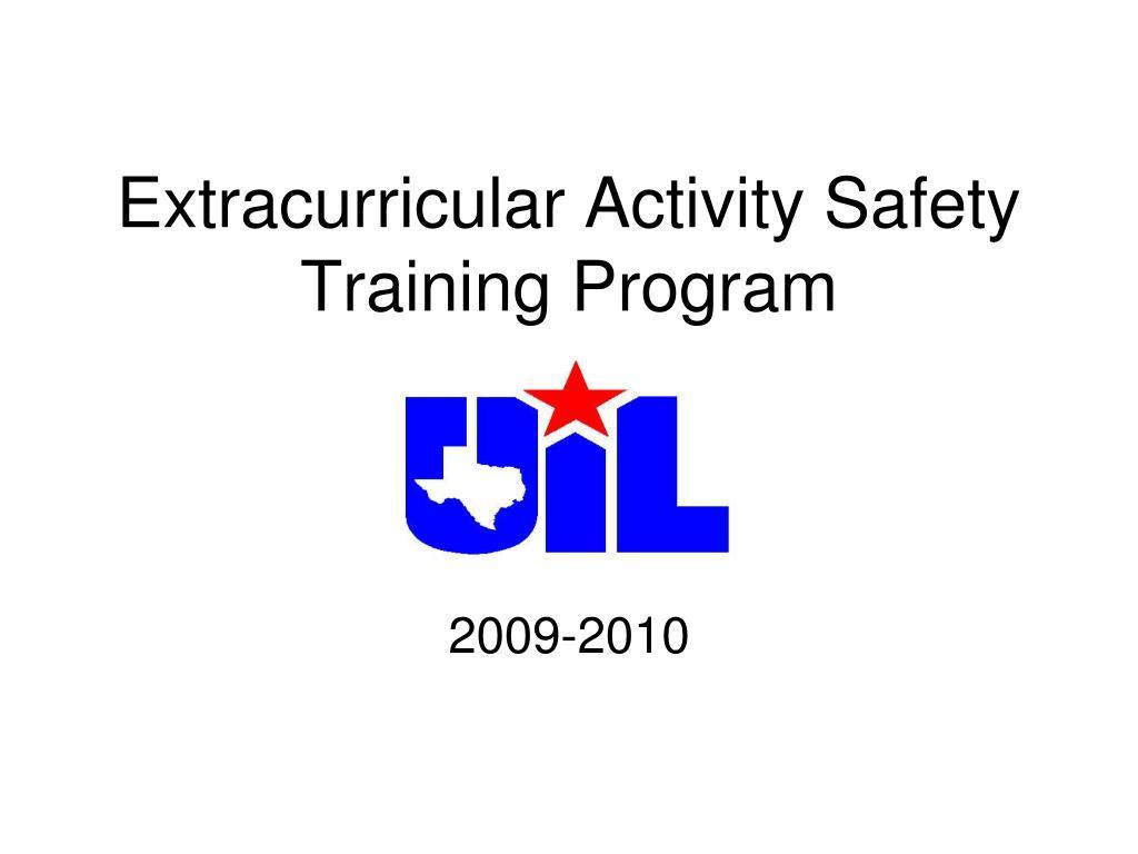 extracurricular activity safety training program l.