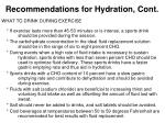 recommendations for hydration cont22