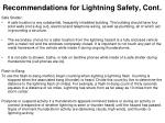 recommendations for lightning safety cont34