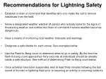 recommendations for lightning safety