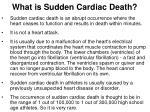 what is sudden cardiac death