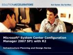 microsoft system center configuration manager 2007 sp1 with r2