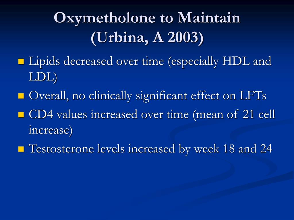 Oxymetholone to Maintain