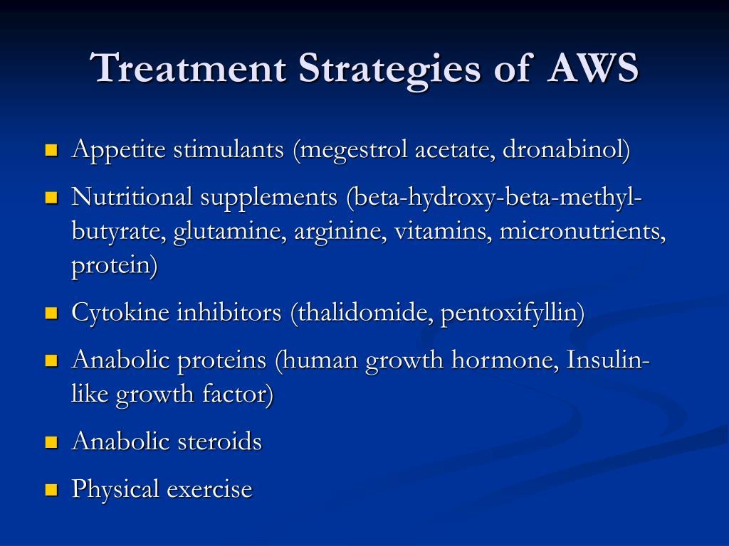 Treatment Strategies of AWS