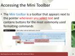 accessing the mini toolbar