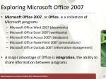 exploring microsoft office 2007