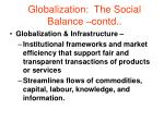 globalization the social balance contd