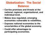 globalization the social balance