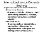 international versus domestic business24