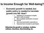 is income enough for well being