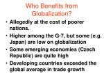 who benefits from globalization