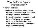 why do firms expand internationally26