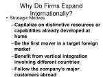 why do firms expand internationally27