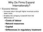 why do firms expand internationally28