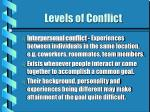 levels of conflict14