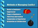 methods of managing conflict
