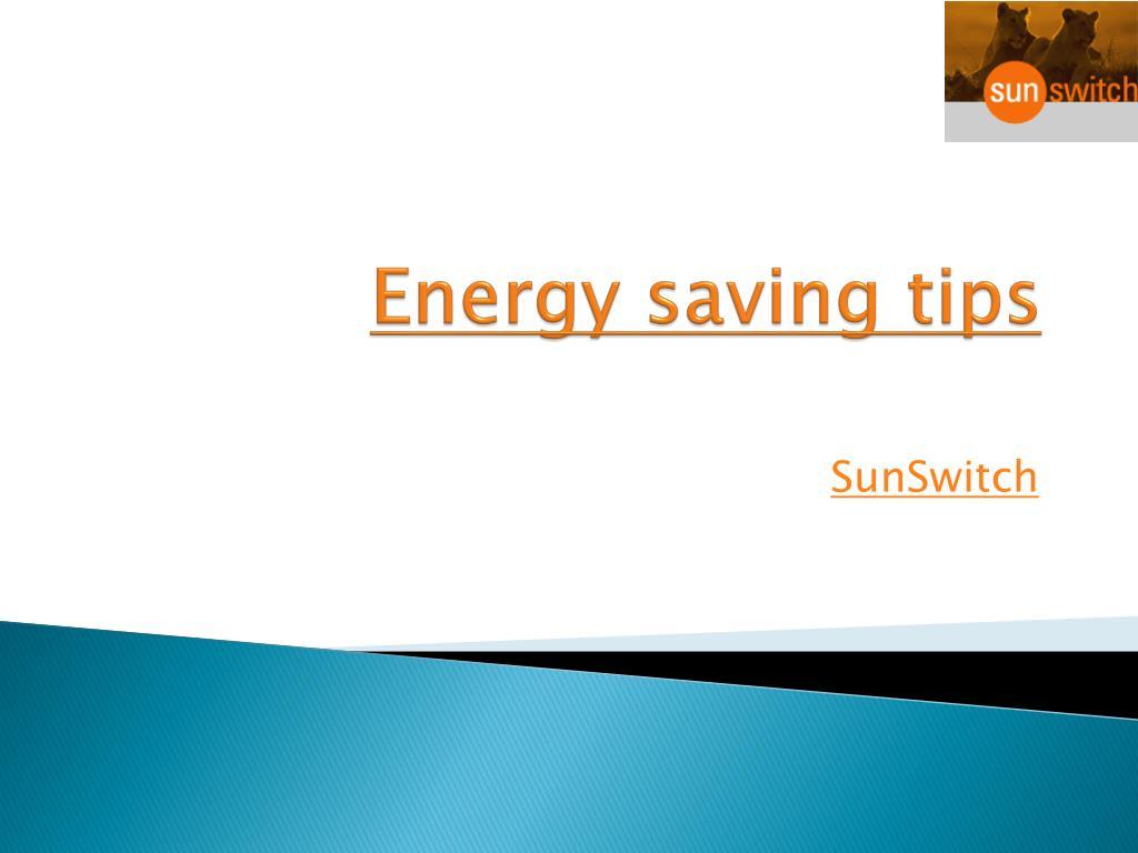 energy saving tips l.