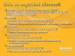 guia de seguridad microsoft