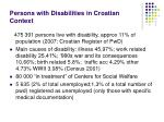 persons with disabilities in croatian context