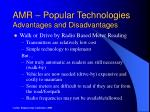 amr popular technologies advantages and disadvantages1