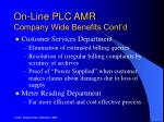 on line plc amr company wide benefits cont d