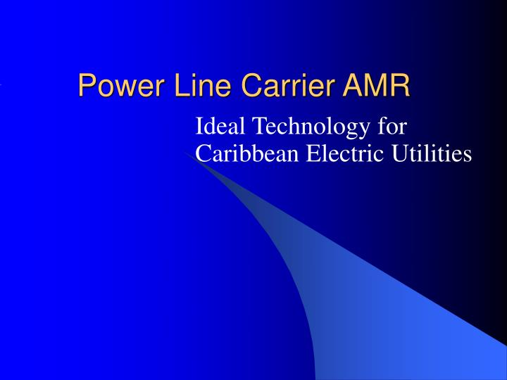power line carrier amr n.