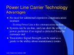power line carrier technology advantages