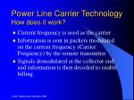 power line carrier technology how does it work