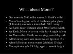 what about moon