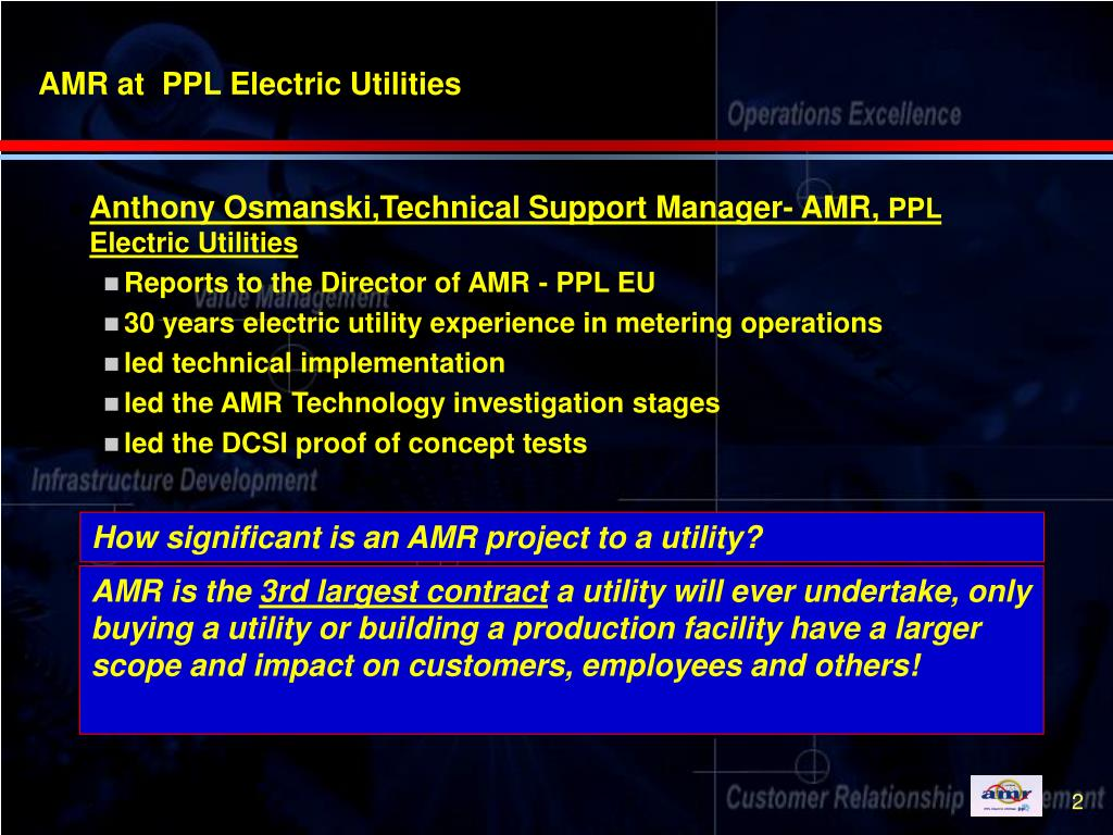 AMR at  PPL Electric Utilities