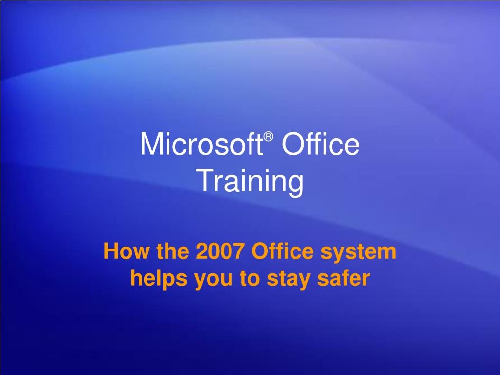 microsoft office training l.