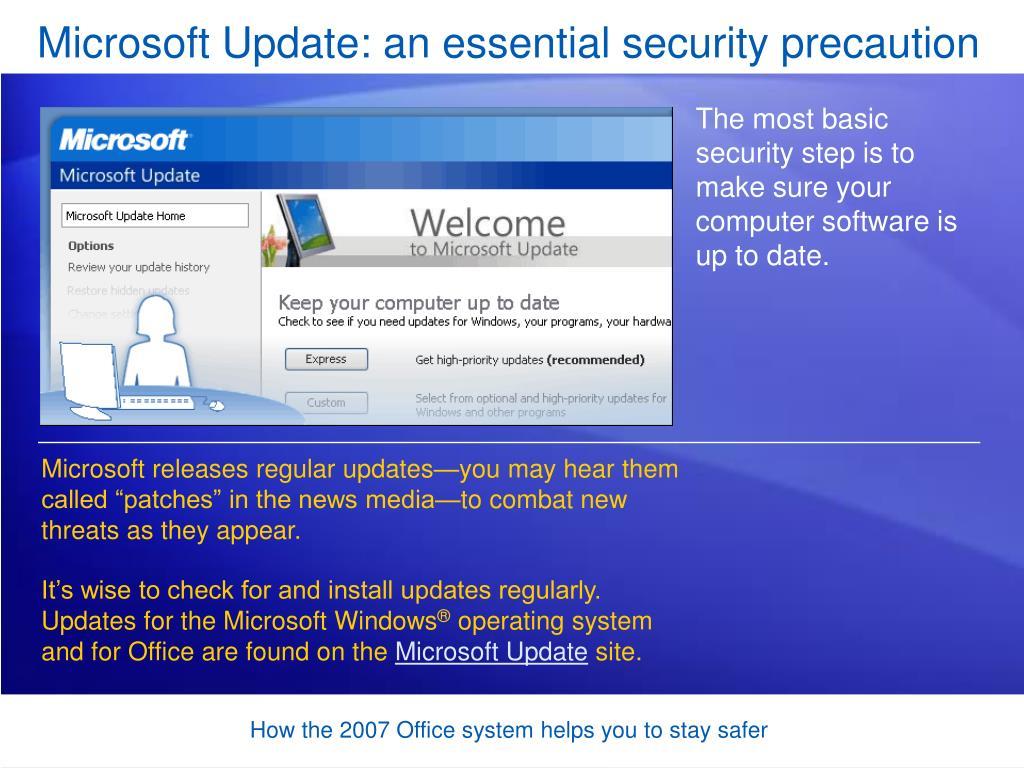 Microsoft Update: an essential security precaution