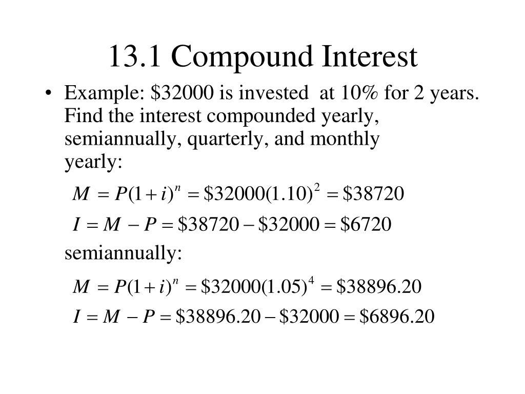 13.1 Compound Interest