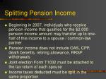 splitting pension income