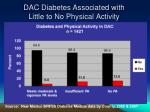 dac diabetes associated with little to no physical activity