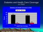diabetes and health care coverage n 1523