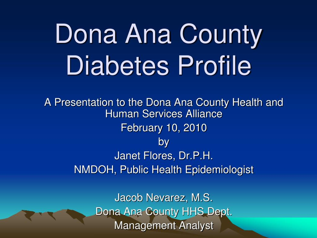 dona ana county diabetes profile l.