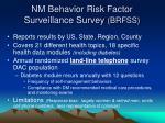 nm behavior risk factor surveillance survey brfss