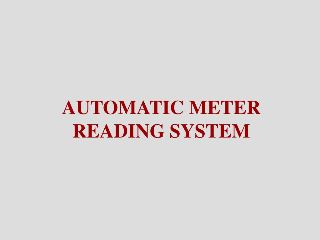 automatic meter reading system l.