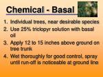 chemical basal