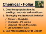 chemical foliar