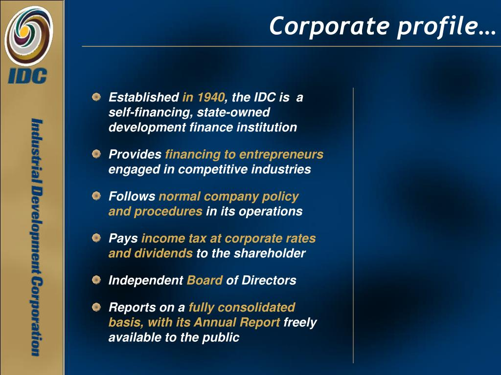 Corporate profile…