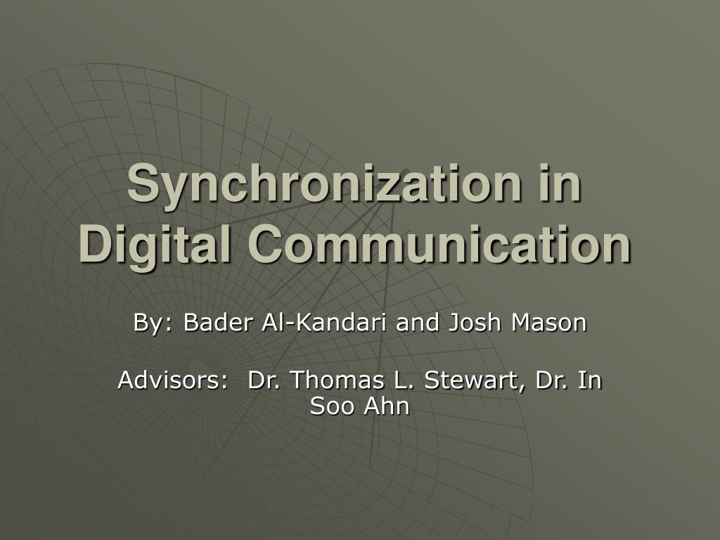 synchronization in digital communication l.