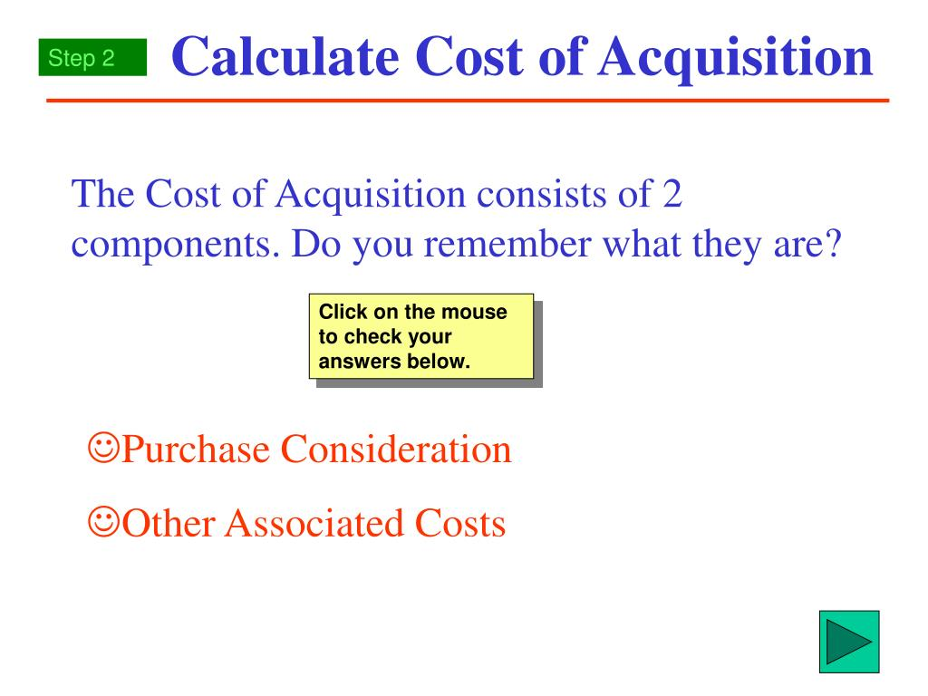 calculate cost of acquisition l.