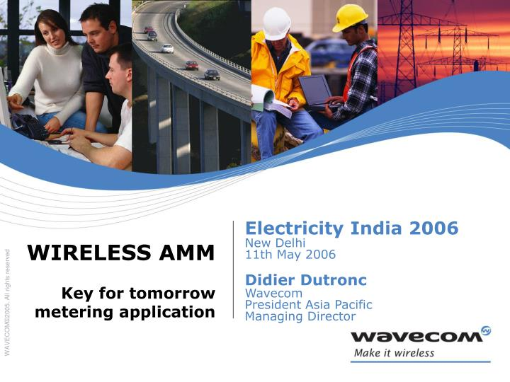 Wireless amm key for tomorrow metering application