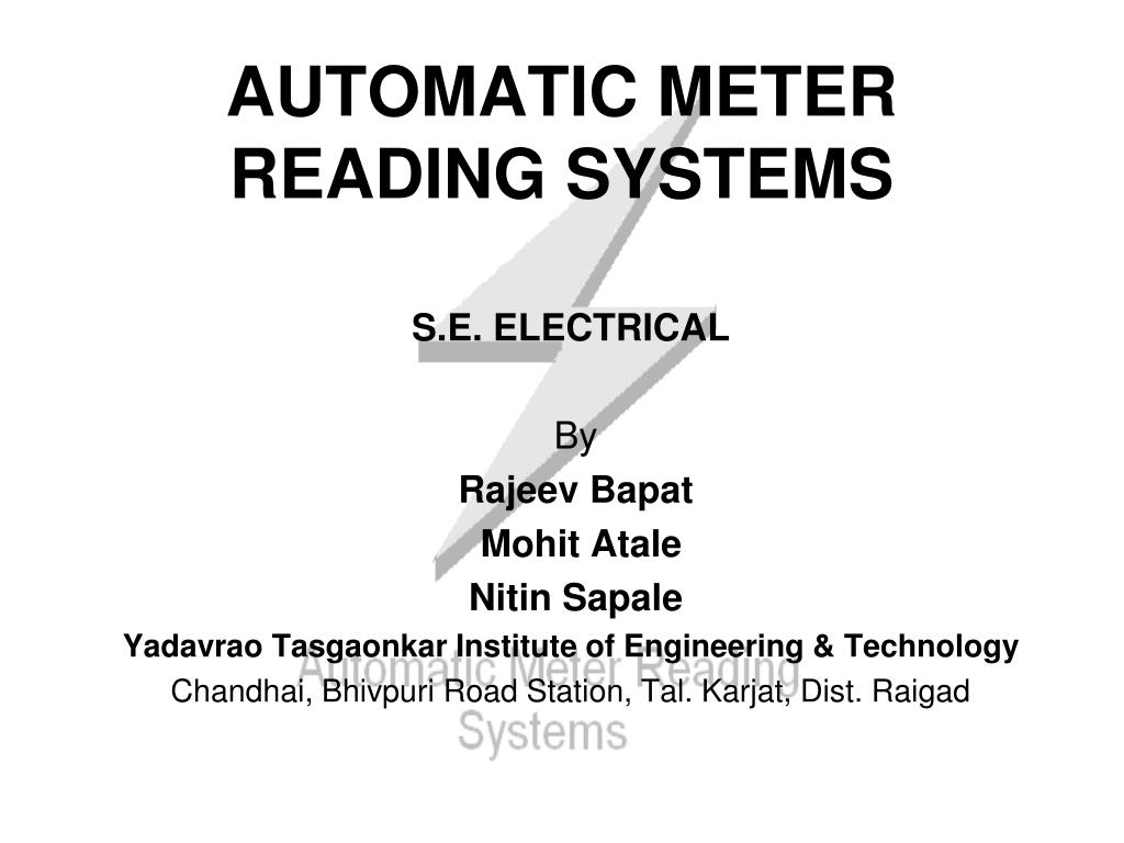 automatic meter reading systems l.