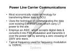power line carrier communications