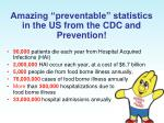 amazing preventable statistics in the us from the cdc and prevention