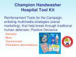 champion handwasher hospital tool kit