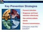 key prevention strategies